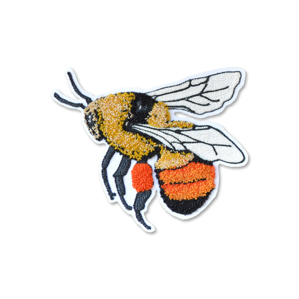Chain Stitch Patch- Blacktail BumbleBee (in flight)
