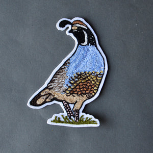 Chain Stitch Patch- California Quail