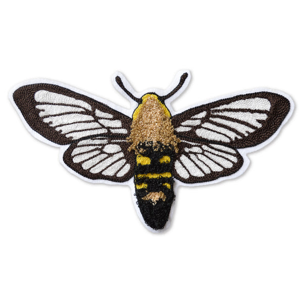Chain Stitch Patch- California Clearwing Moth