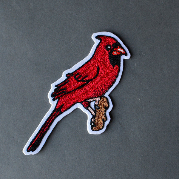 Chain Stitch Patch- Northern Cardinal