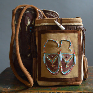 Bag- Beaded Moccasins Crossbody