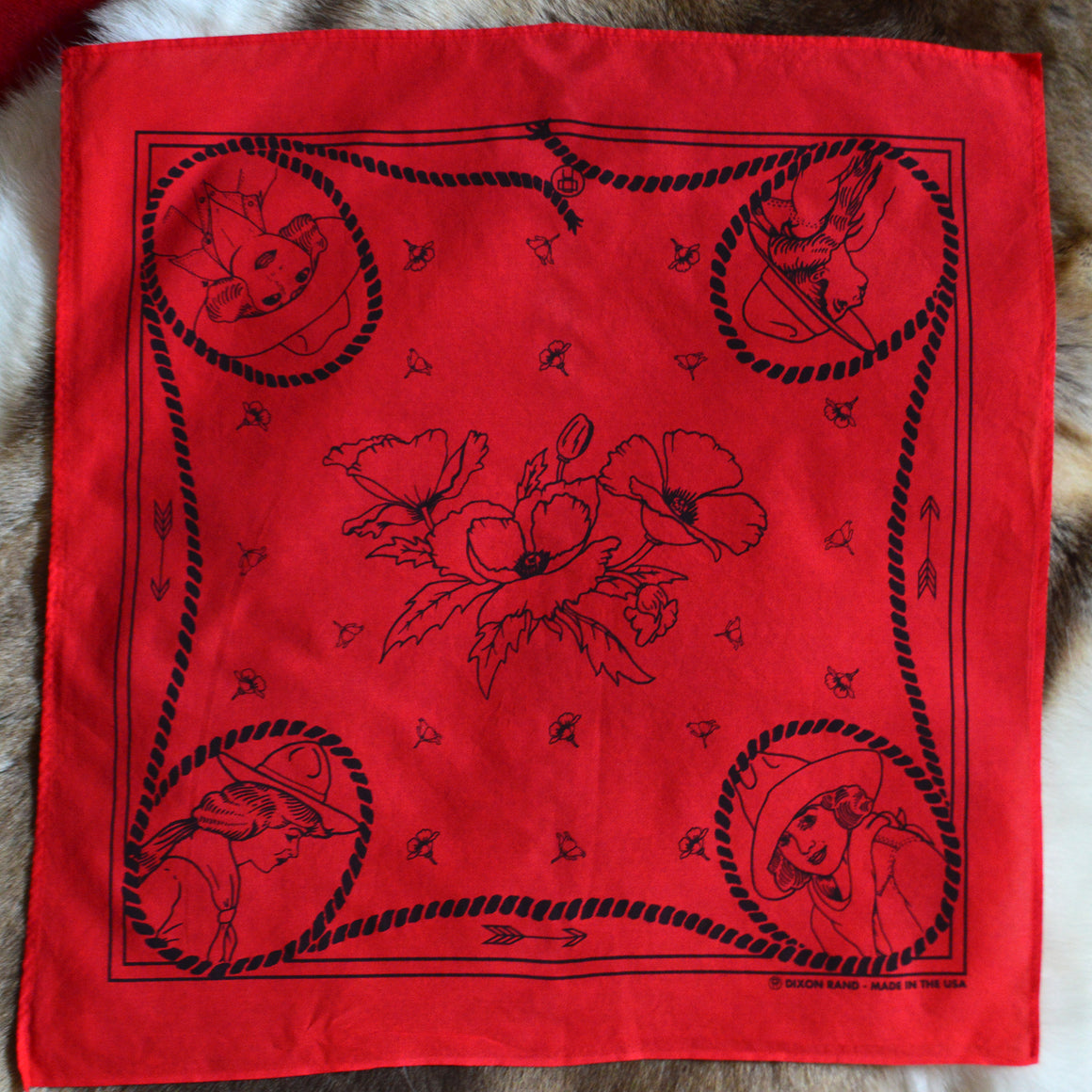 Bandana- Cowgirl Conversation Red