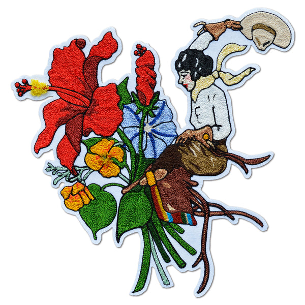 Chain Stitch Patch- Cowgirl Bouquet