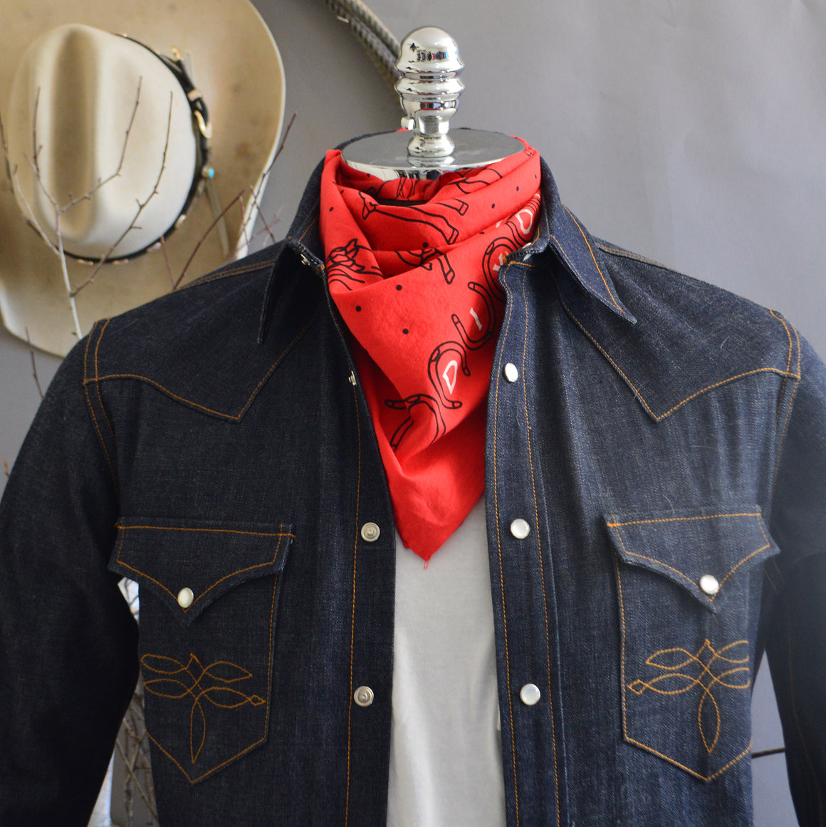 Bandana- Cowboy Dreams Red