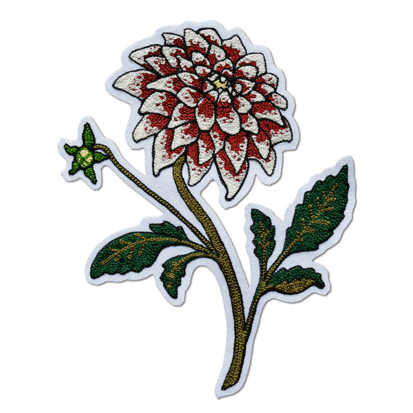 Chain Stitch Patch- Dahlia Flower