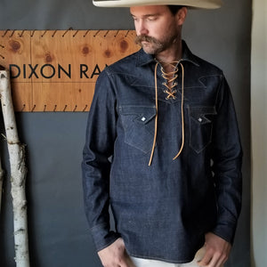 The Drifter- Men's Indigo Selvedge Denim Popover
