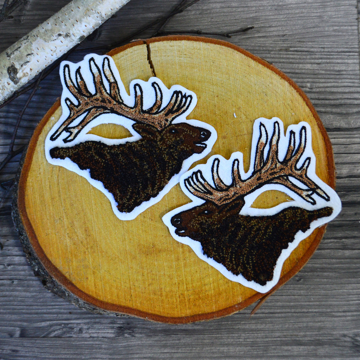 Chain Stitch Patch- Bugling Elk