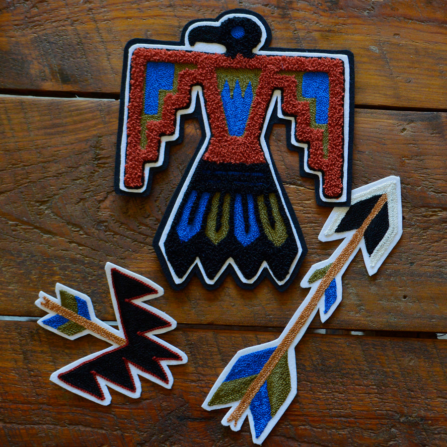 Chain Stitch Patch- Lg Fred Harvey Thunderbird
