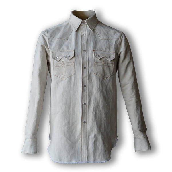 Highwayman- Men's Natural Selvedge Denim Western Shirt