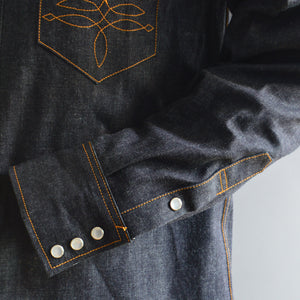 Highwayman- Men's Selvedge Denim Western Shirt