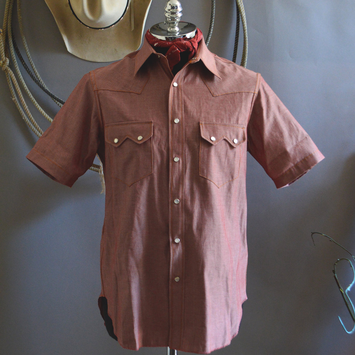 Highwayman- Men's Short Sleeve Chambray Shirt