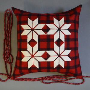 Chain Stitch Throw Pillow- Pendleton Snowflakes