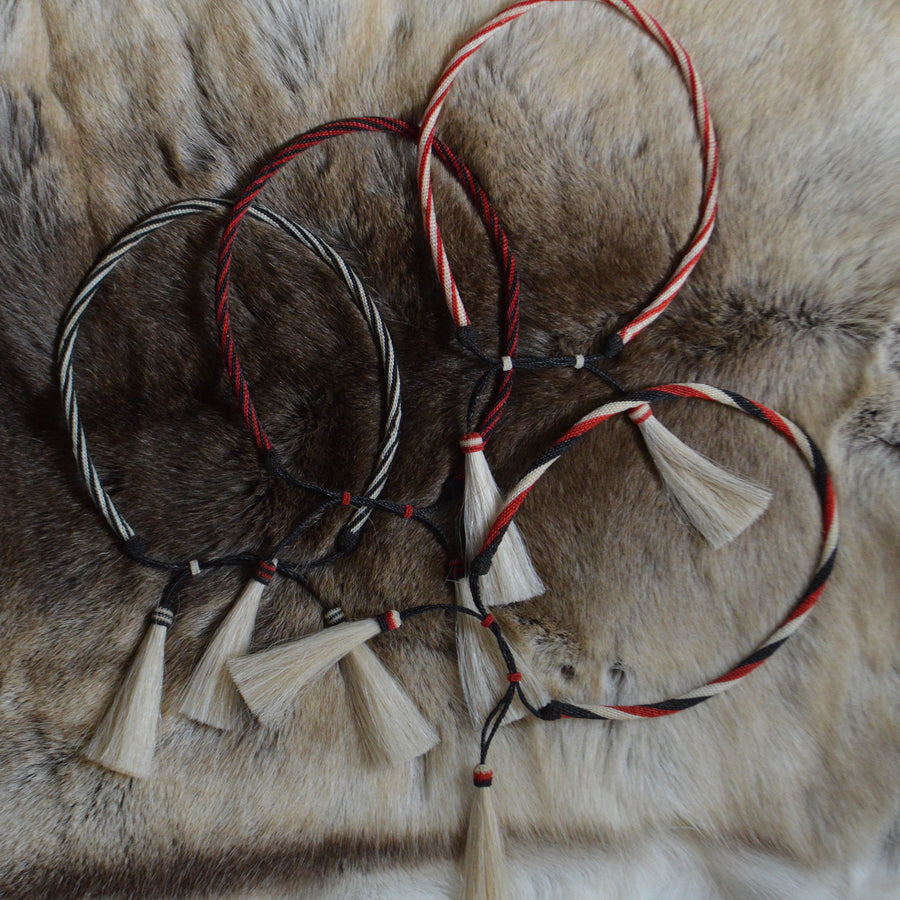 Vintage Hatband- Hitched Horsehair