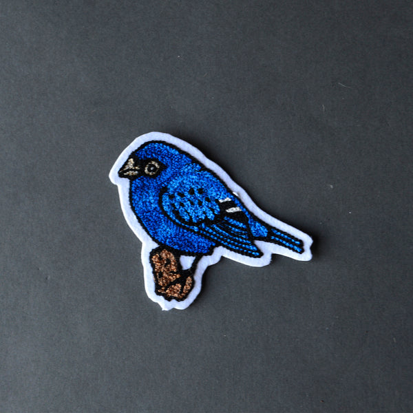 Chain Stitch Patch- Indigo Bunting