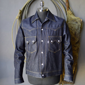 Jack Of Diamonds- Men's Indigo Selvedge Denim Jacket