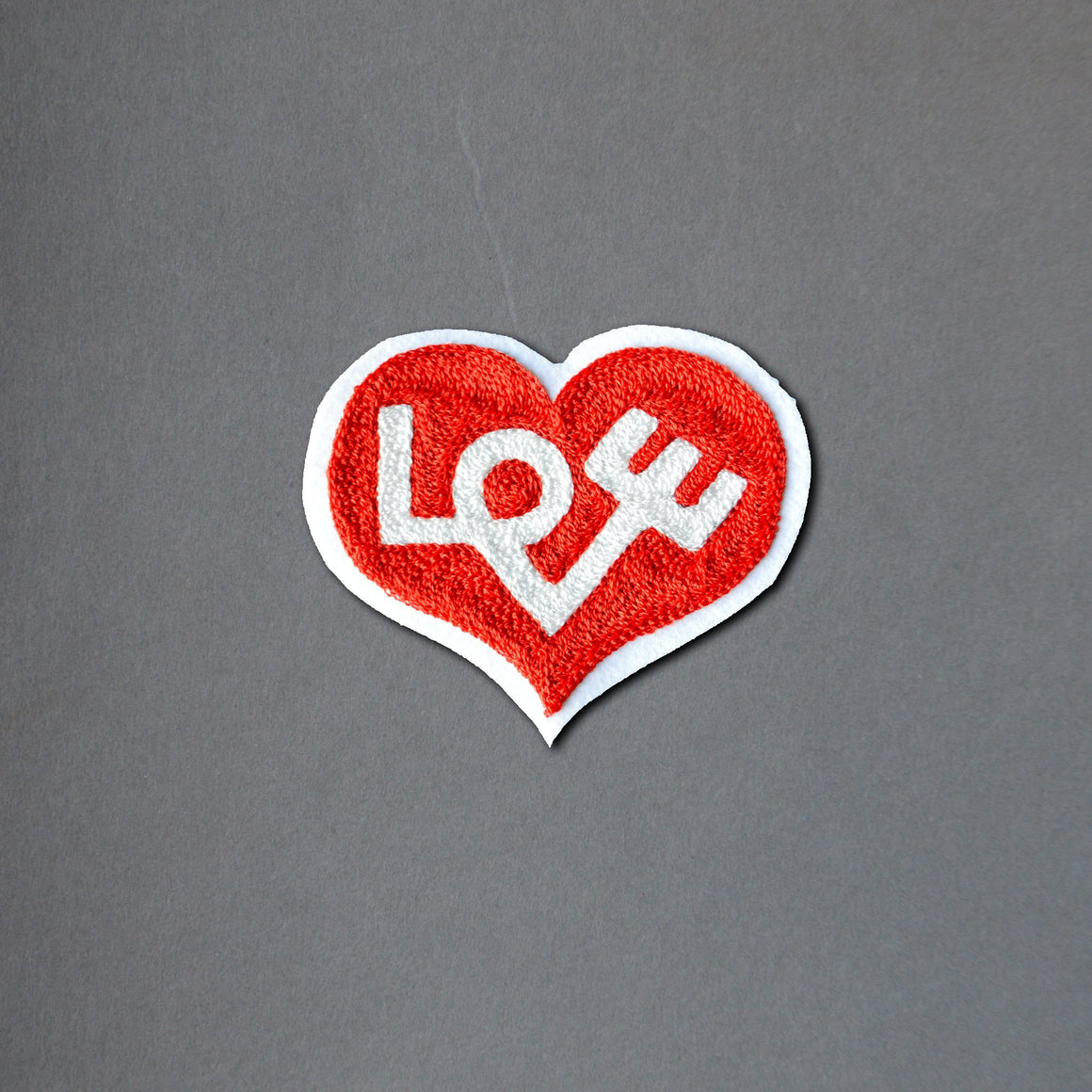 Chain Stitch Patch- LOVE Heart
