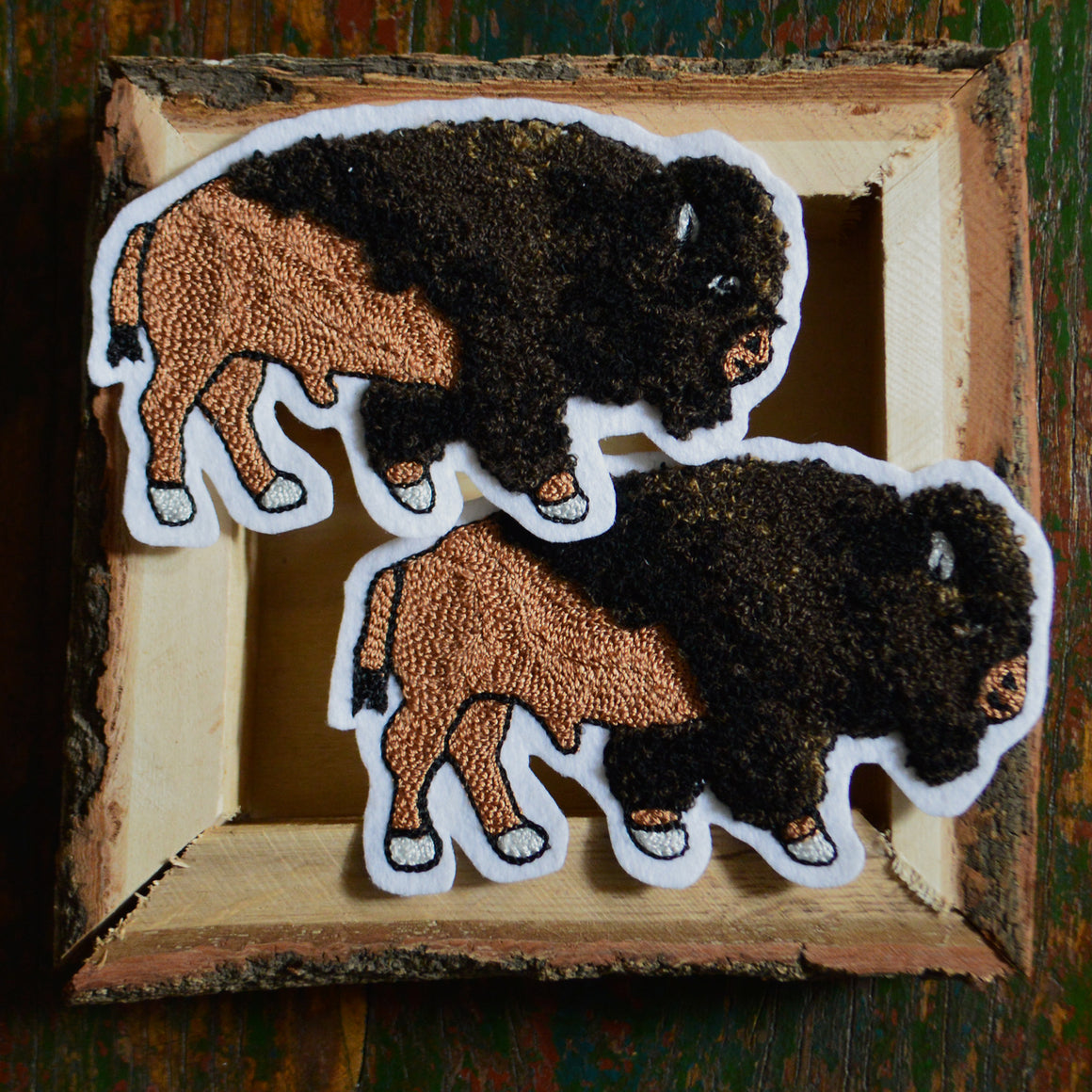 Chain Stitch Patch- Mini Bison