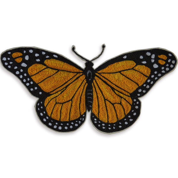 Chain Stitch Patch- Monarch Butterfly
