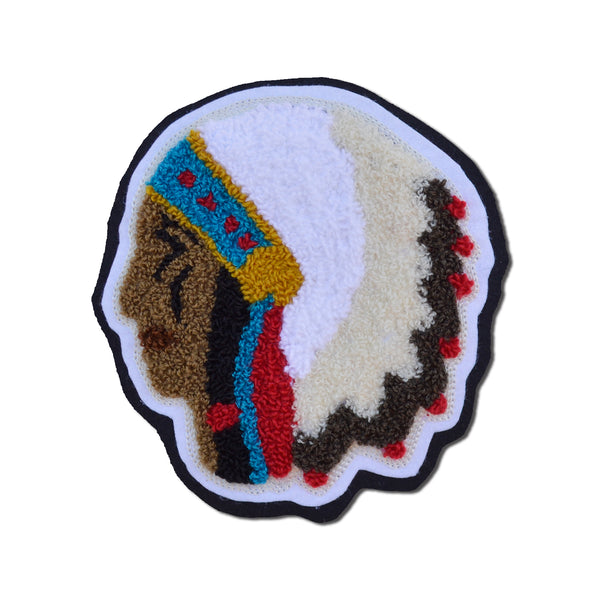 Chain Stitch Patch- Vintage inspired Chieftan Head