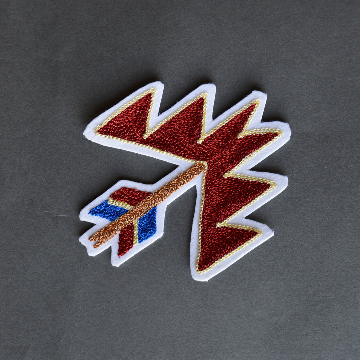 Chain Stitch Patch- Fred Harvey Arrow