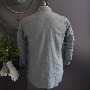 The Rambler- Men's Sage Linen Western Shirt