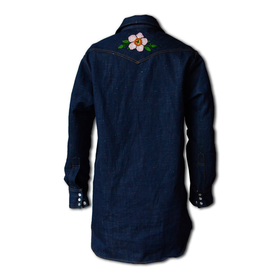 Ranchera- Women's Indigo Denim Tunic Shirt