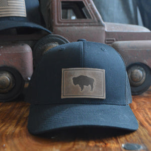 Ball Cap- Bison Patch (black)