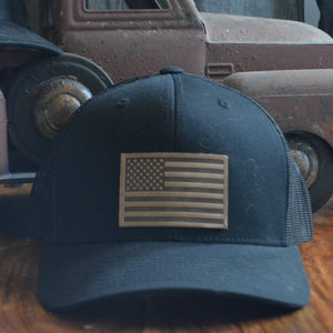 Ball Cap- American Flag Patch