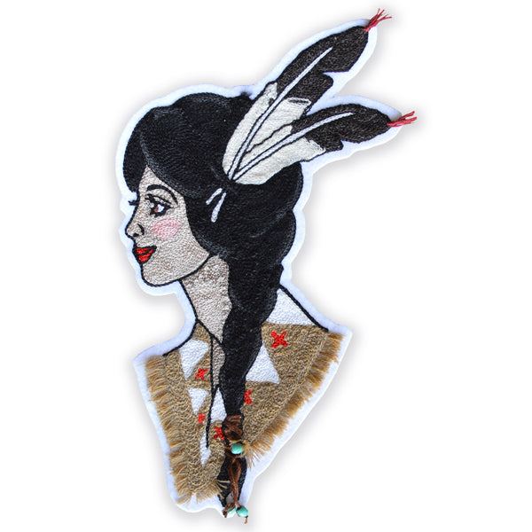 Chain Stitch Patch- Sacagawea, Native American Princess