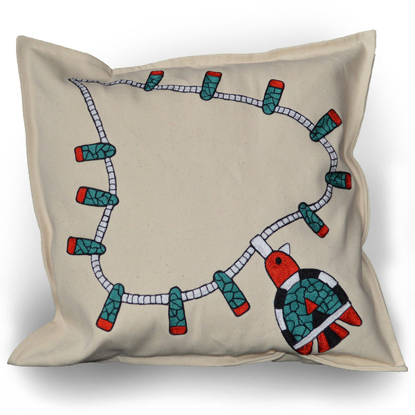 Chain Stitch Throw Pillow (Lg)- Santo Domingo Necklace