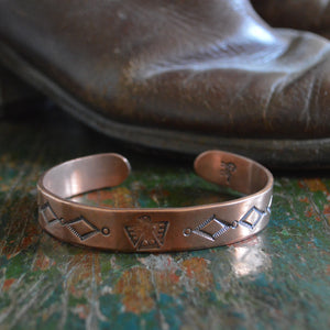 Cuff- Hand Stamped Copper