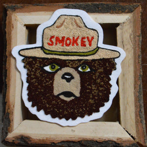 Chain Stitch Patch- SMOKEY Bear
