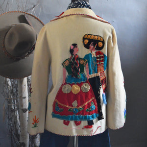 Vintage Jacket- Mexican Souvenir Embroidered