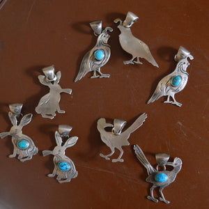 Necklace- Sterling Animals with Turquoiose