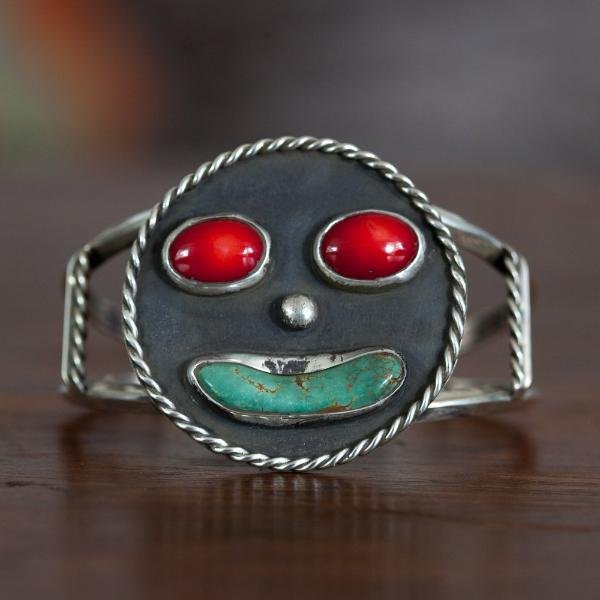 Sterling Cuff- Southwest Happy Face