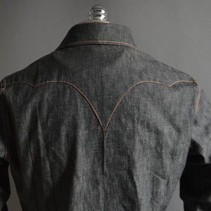 *RETIRED*The Cowboy- Outlaw Country Edition Men's Denim Western Shirt