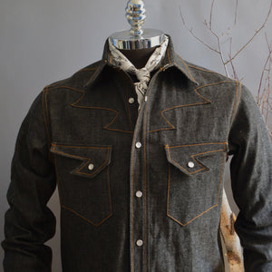 Thunderbird- Men's Selvedge Denim Western Shirt