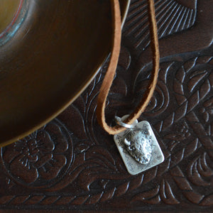 Necklace- Sterling Bison Tag