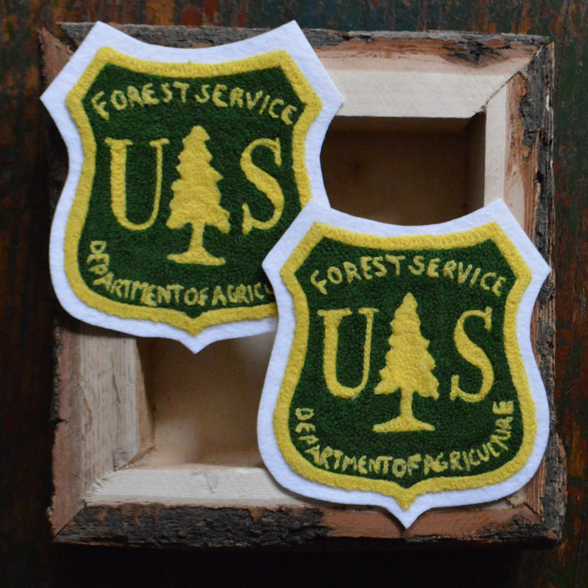 Chain Stitch Patch- US Forest Service Badge Green