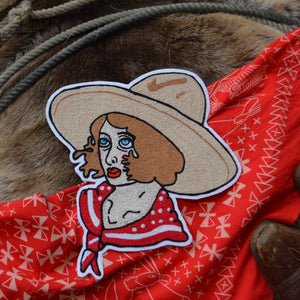 Chain Stitch Patch- Vera, Queen of the Rodeo