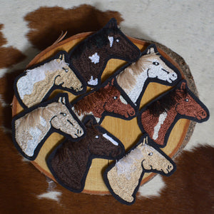 Chain Stitch Patch-Horse Head Profile