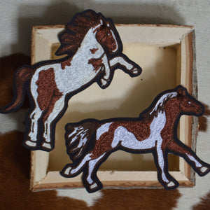 Chain Stitch Patch- Wild Horse