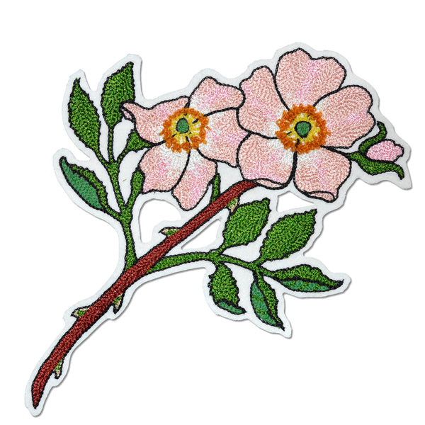 Chain Stitch Patch- Prairie Rose