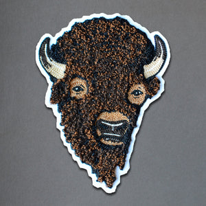 Chain Stitch Patch- Brown Bison