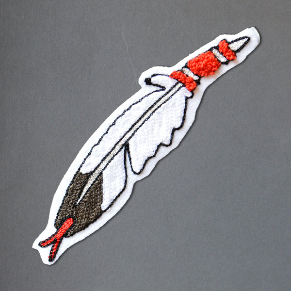 Chain Stitch Patch- Eagle Feather
