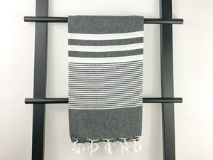 Turkish towel ALI black