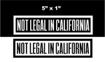 Not Legal In California Patch