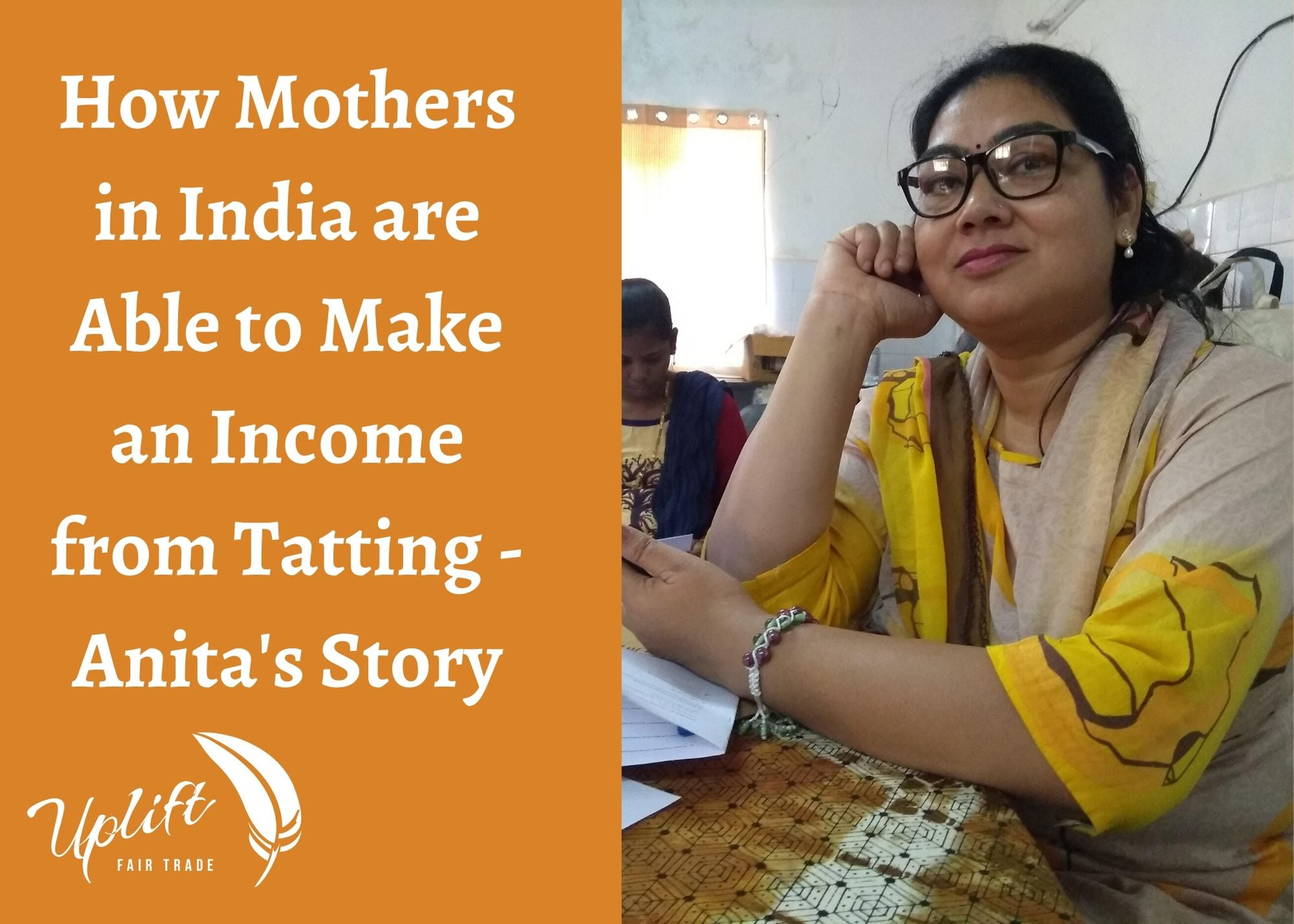 How Mothers in India are Able to Make an Income from Tatting - Anita's Story