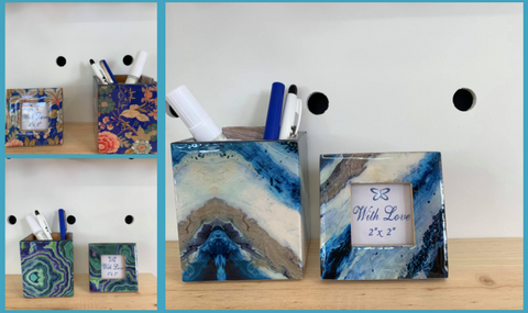 Fair Trade Ethical Desk Decorations - Pen Holder and Matching Frame