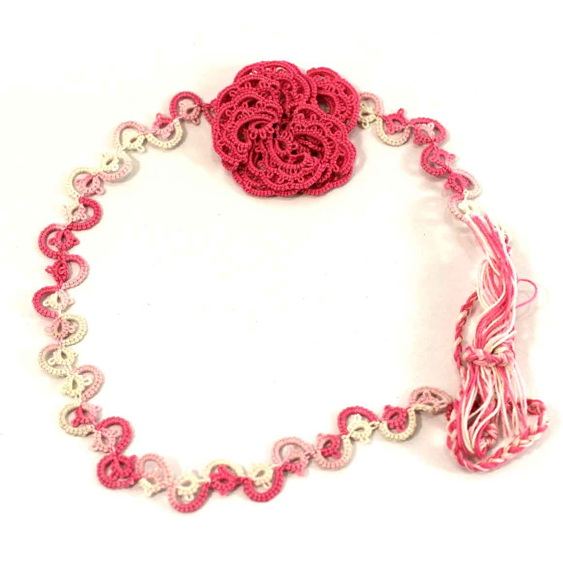 Fair Trade Ethical Tatted Headband Rose